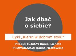 """Prezentacja z webinarium """"Ja na liderskim szlaku"""