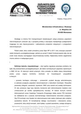pismo_MIR_09.07.2015 - Ogólnopolskie Stowarzyszenie