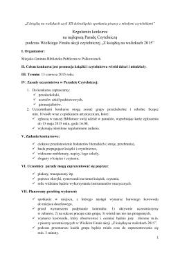 Regulamin - Miejsko - Gminna Biblioteka Publiczna w Polkowicach