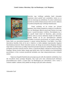 Gaudi. Geniusz z Barcelony, Gijs van Hensbergen , wyd. Marginesy