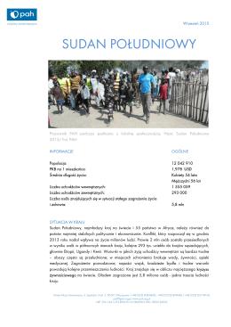 Dzialania PAH w Sudanie Poludniowym_09.2015