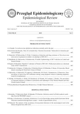 Tom 69 Nr 3 - Przegląd Epidemiologiczny