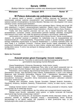Serwis ORRK nr 67 (listopad 2015 r.)
