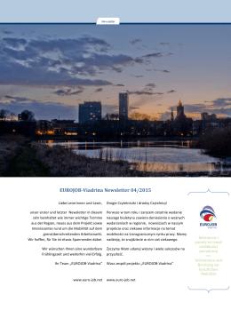 EUROJOB-Viadrina Newsletter 04/2015