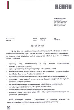 03-09-23 referencje - REHAU Nochowo 2003 str.2
