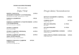 Zupy / Soup Drugie dania / Secoundcourses - Sila