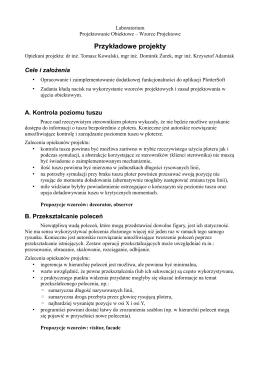 Przykładowe zadania - laboratorium - Dydaktyka