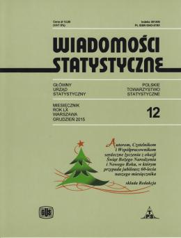 Wiadomości Statystyczne Numer 12 grudzień 2015 roku