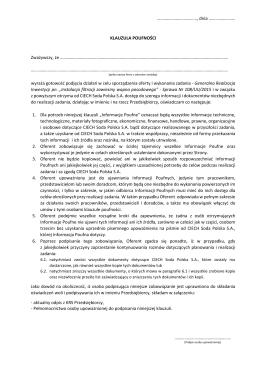 pdf Klauzula Poufności