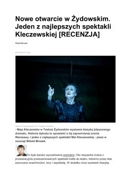 Nowe otwarcie w Żydowskim / Witold Mrozek