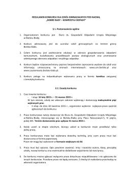 Regulamin Szkoły Gimnazjalne - SEGREAKCJA Bielsko