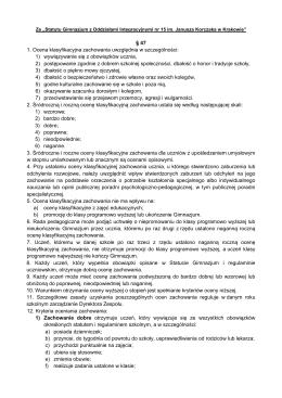 kryteria oceny zachowania