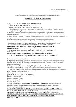 propozycje marzec 21.03.2015 r.
