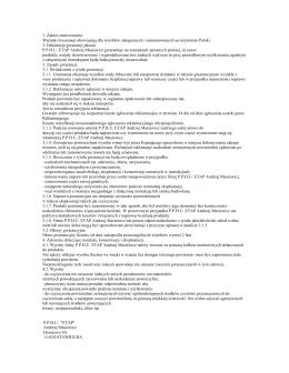 Warunki gwarancji lustra Etap