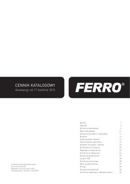 Cennik katalogowy FERRO 2015-04-17