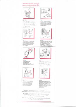 Jak oszcz^dzac energi^ - osiem praktycznych rad: