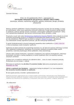 Zaproszenie na spotkanie branżowe (01
