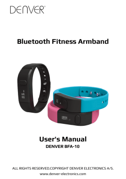 Bluetooth Fitness Armband User`s Manual