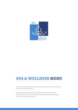 Spa & Wellness Menu