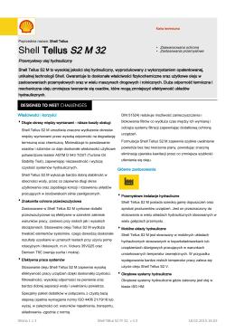 Page 1 Karta techniczna Poprzednia nazwa: Shell Tellus Shell