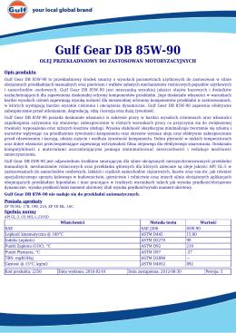 Gulf Gear DB 85W-90