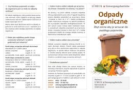 Odpady organiczne - Entsorgungsbetriebe Lübeck