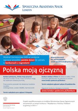 Polska moją ojczyzną