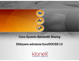 Cisco Dynamic Bandwidth Sharing Efektywne wdroŜenie Euro