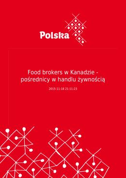 Food brokers w Kanadzie - pośrednicy w handlu żywnością