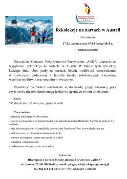 Rekolekcje na nartach w Austrii
