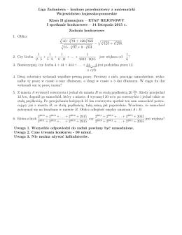 Liga Zadaniowa – konkurs przedmiotowy z matematyki