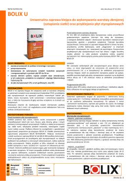 Karta techniczna BOLIX U