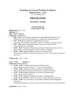 Program – ZG
