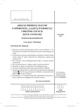 Język angielski - GieldaMaturalna.pl