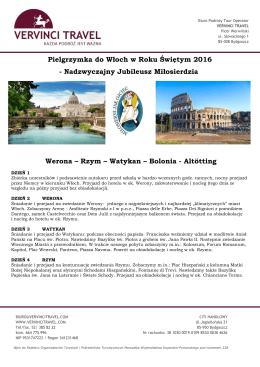 Pielgrzymka do Włoch w Roku Świętym 2016