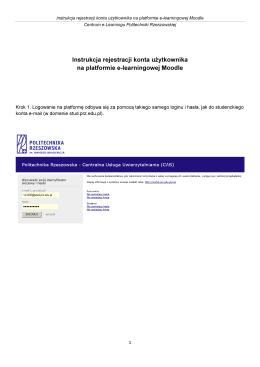 Instrukcja rejestracji konta użytkownika na platformie e