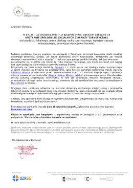 Zaproszenie na spotkanie branżowe (25