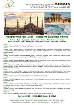 Pielgrzymka do Turcji – śladami świętego Pawła