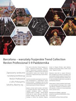 Barcelona – warsztaty fryzjerskie Trend Collection Revlon