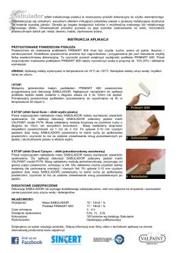 Instrukcja aplikacji SABULADOR