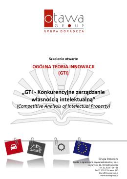 """""""GTI - Konkurencyjne zarządzanie własnością"""
