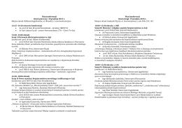 Plan konferencji Dzień pierwszy: 18 grudnia 2015 r. Miejsce obrad