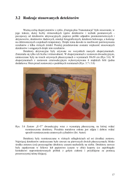 3.2 Rodzaje stosowanych detektorów