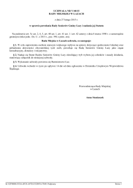 Statut Rady Seniorów Gminy Łazy