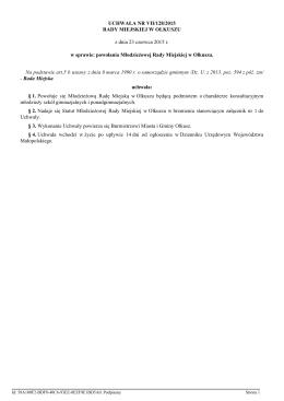 Statut Młodzieżowej Rady Miejskiej w Olkuszu