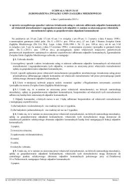 Uchwała Nr IV/31/15 Zgromadzenia Związku Gmin Zagłębia