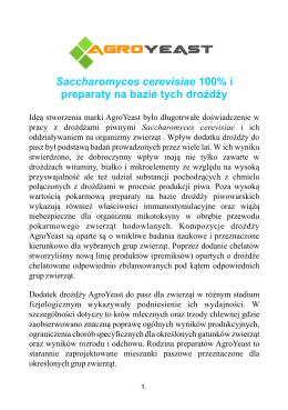 Saccharomyces cerevisiae 100% i preparaty na bazie tych drożdży