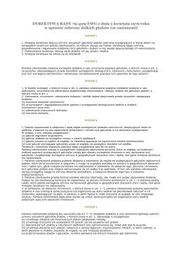 [27] dyrektywa ptasia