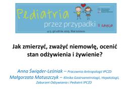 mgr Anna Świąder-Leśniak - Pediatria przez przypadki