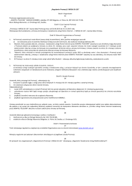 Regulamin Promocji -1 MEGA ZA 1ZŁ